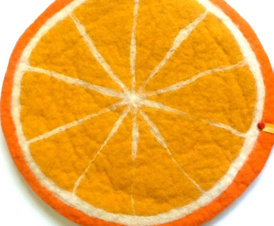 Sitzkissen Limette Kissen rund