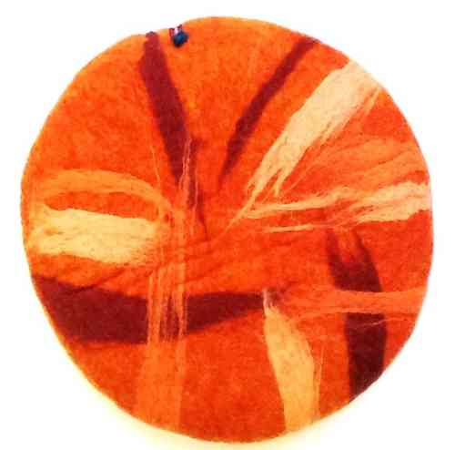 Seat Cushion Abstract, orange