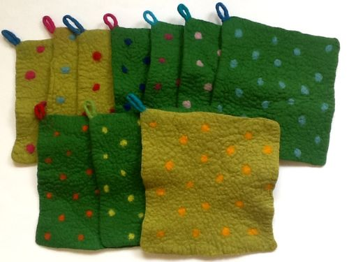 Pot Holders with Dots
